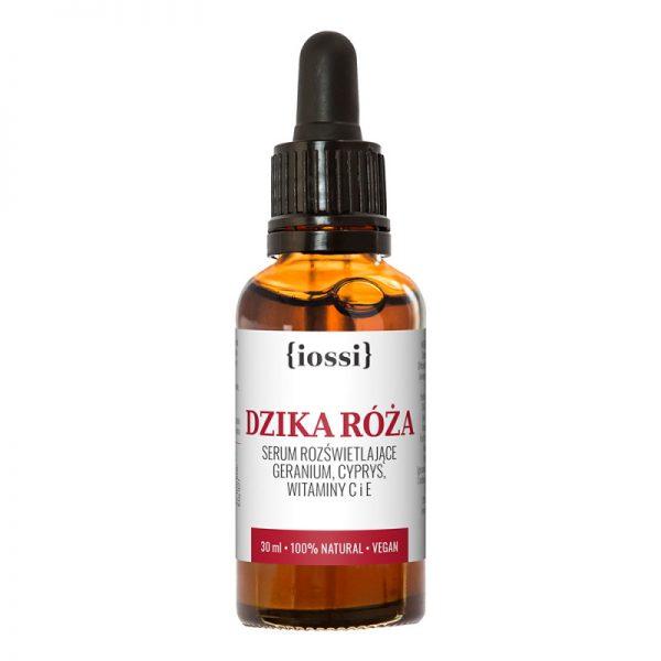 IOSSI – Dzika Róża. Serum rozświetlające z geranium, cyprysem, witaminami C i E 30ml