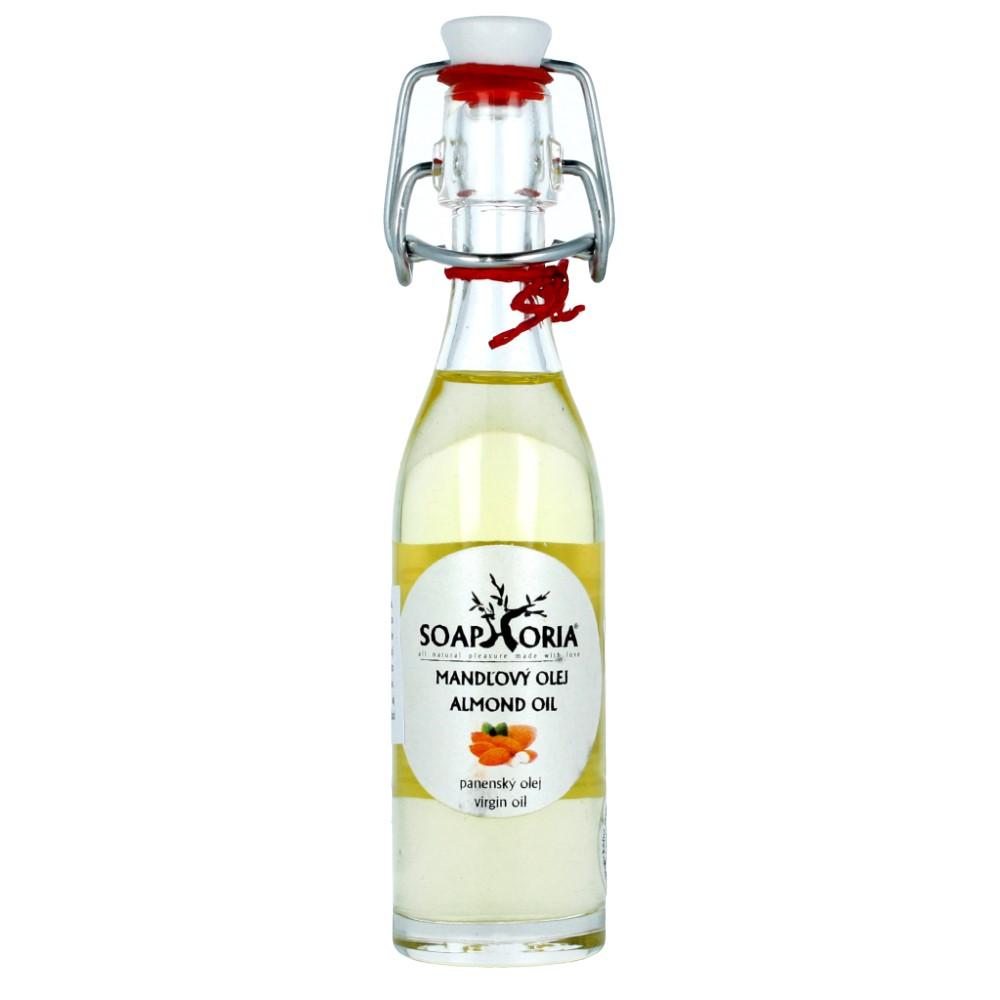 Organiczny, zimnotłoczony olej ze słodkich migdałów