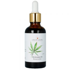 Naturalny olej konopny BIO – do twarzy i ciała 50ml