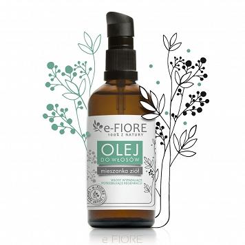 E-FIORE – Mix ziół i oleje do włosów zniszczonych i wypadających