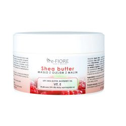 E-FIORE – Masło do ciała 100% Naturalne Shea Butter MALINOWE