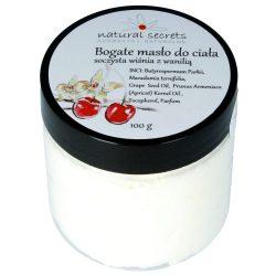 Bogate masło do ciała – słodka wiśnia z wanilią