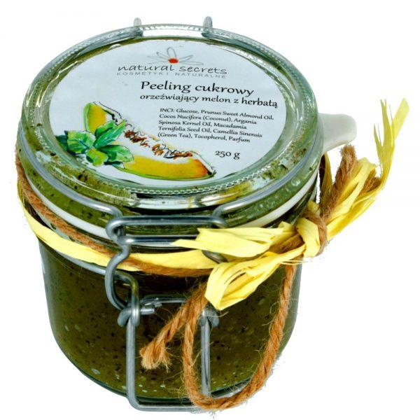 Peeling cukrowy – orzeźwiający melon z zieloną herbatą