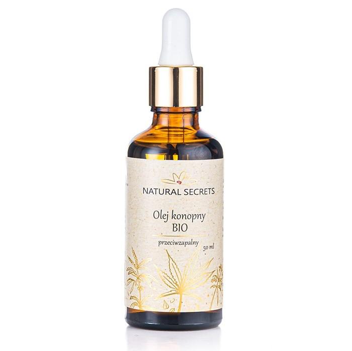 Natural Secrets – Naturalny olej konopny BIO – do twarzy i ciała 50ml