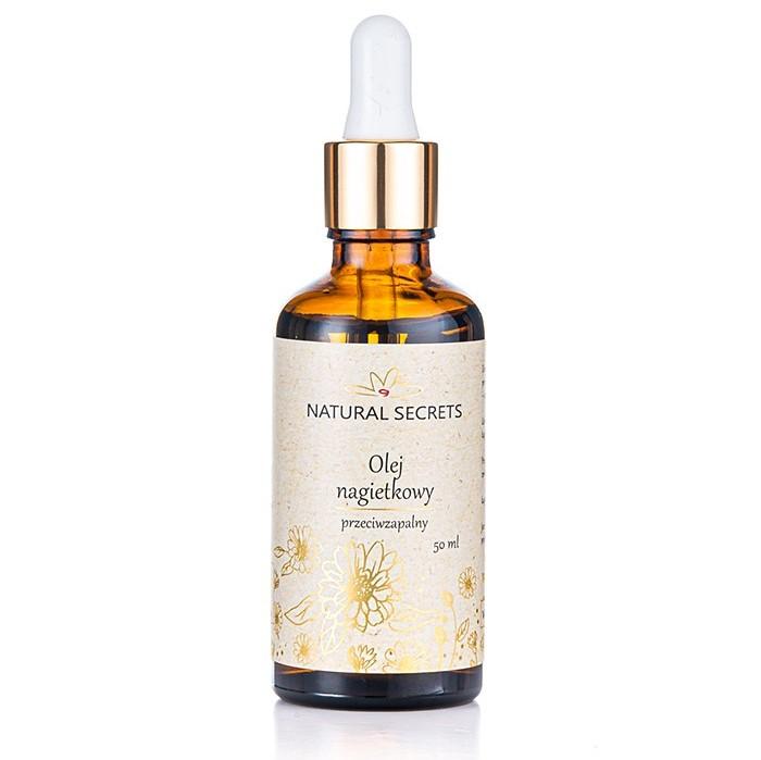 Natural Secrets – Naturalny olej nagietkowy do twarzy i ciała 50ml