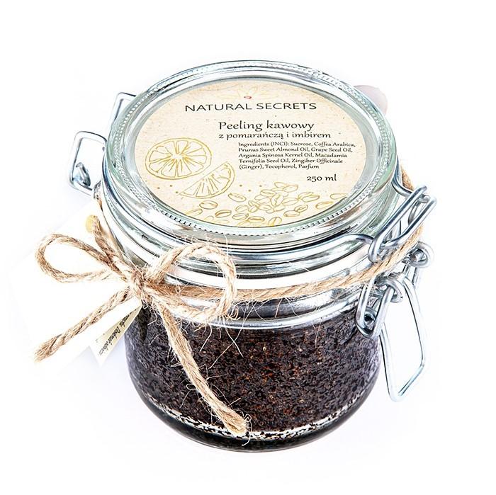 Natural Secrets – Peeling kawowy Pomarańcza z Imbirem, 250ml