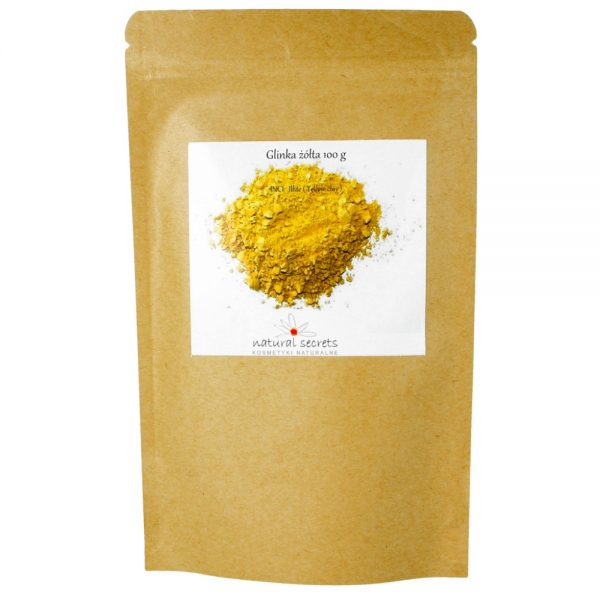 Natural Secrets – Naturalna żółta glinka, 100g