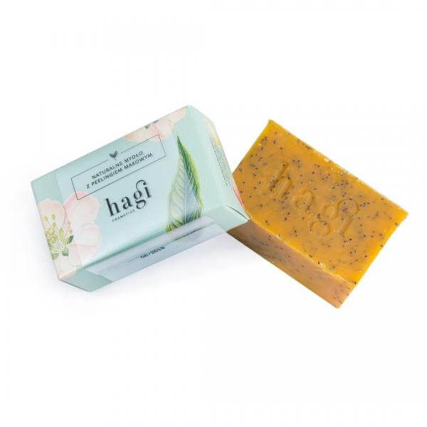HAGI – Naturalne mydło z olejem z Rokitnika i peelingiem makowym