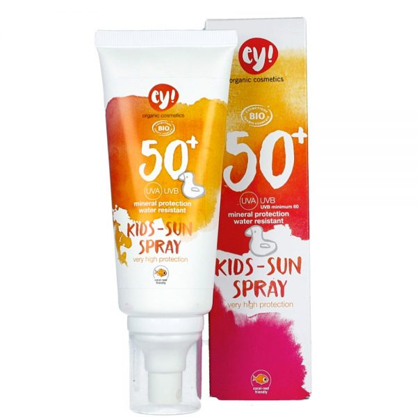 ECO COSMETICS – ey! Spray na słońce SPF 50+ Kids – dla dzieci do twarzy i ciała
