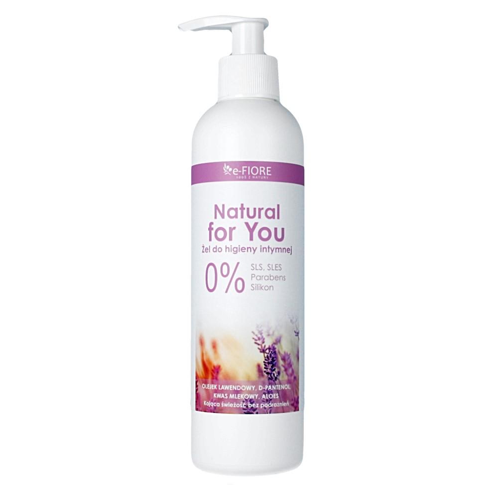 E-FIORE – Naturalny żel do higieny intymnej z olejkiem z lawendy, kwasem mlekowym