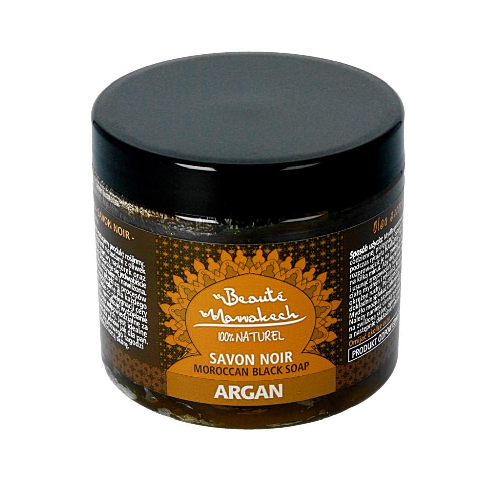 Beaute Marrakech – naturalne czarne mydło SAVON NOIR Arganowe 200g