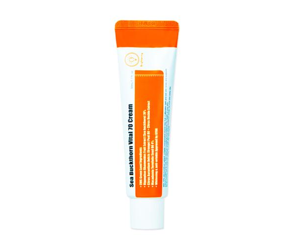Purito – Sea Buckthorn Vital 70 Cream Rozświetlający krem dla szarej skóry na bazie rokietnika
