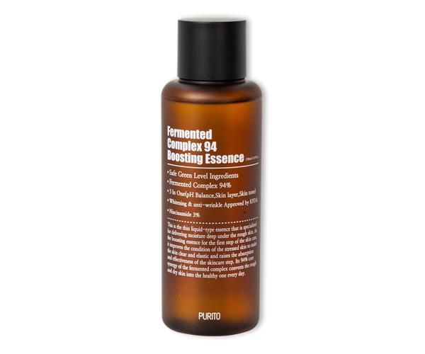 PURITO Fermented Complex 94 Boosting Essence – Rozjaśniająca esencja o działaniu przeciwzmarszczkowym, 150ml