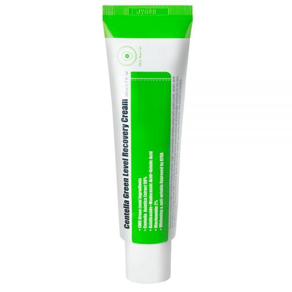 PURITO – Centella Green Level Recovery Cream Odbudowujący krem do twarzy z wąkrotki azjatyckiej, 50ml