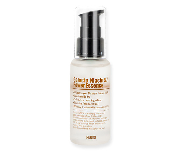 PURITO – Galacto Niacin 97 Power Essence  Esencja do twarzy z niacynamidem i fermentami, 60ml