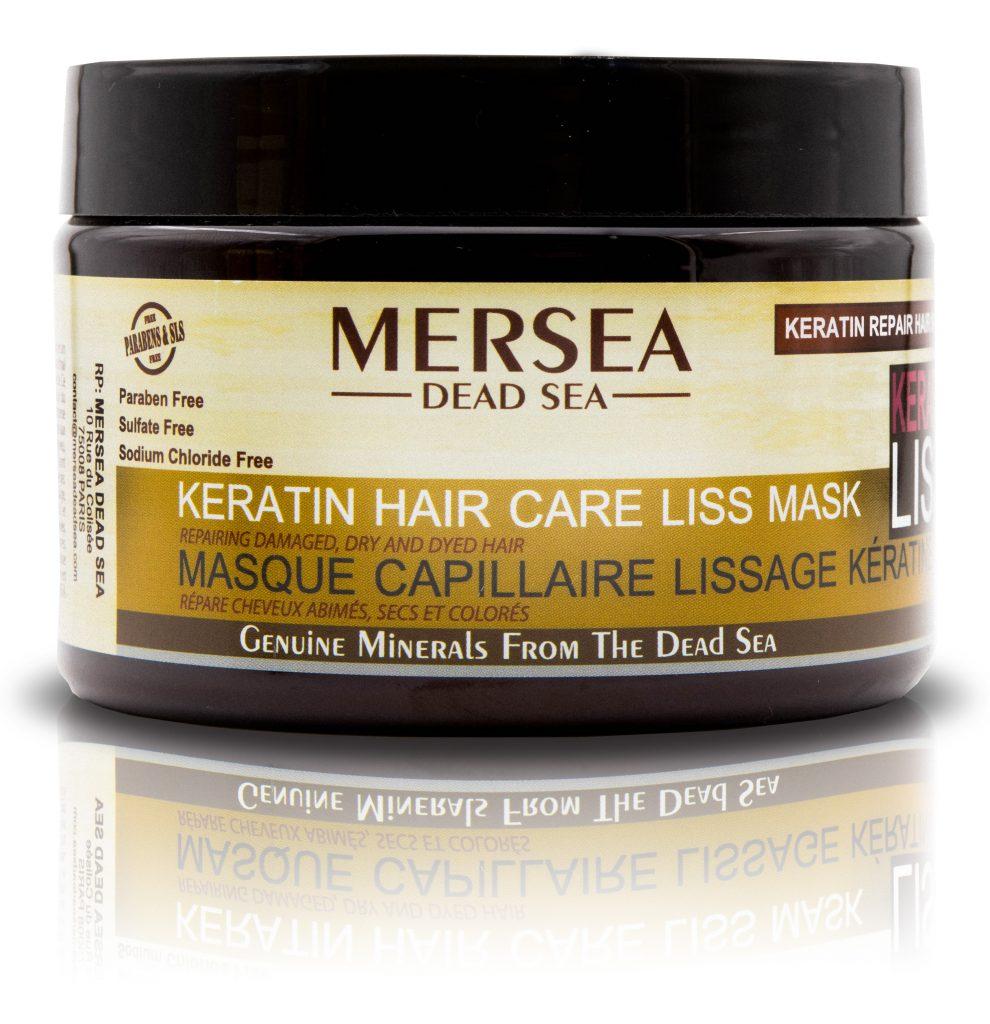 MERSEA DEAD SEA  Keratin Hair Care Liss Mask – keratynowa maska do włosów zniszczonych
