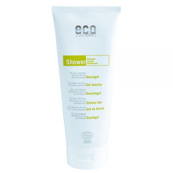 Eco Cosmetics – Ekologiczny, certyfikowany ECOCERT Żel pod prysznic z zieloną herbatą i owocem granatu