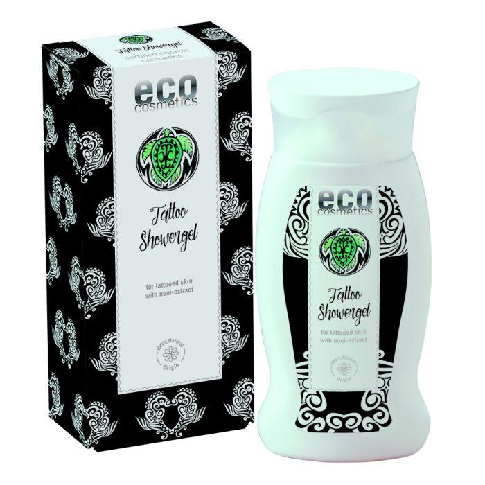Eco Cosmetics – Tatoo Shower Gel – Ekologiczny, żel po prysznic dla skóry z tatuażami z ekstraktem z noni