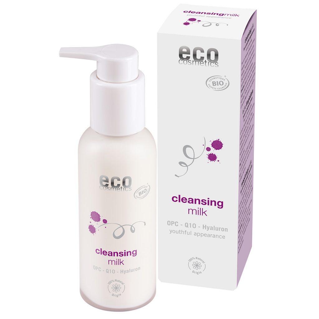 Eco Cosmetics – Anti-Aging Mleczko oczyszczające z OPC, Q10 i kwasem hialuronowym ECOCERT