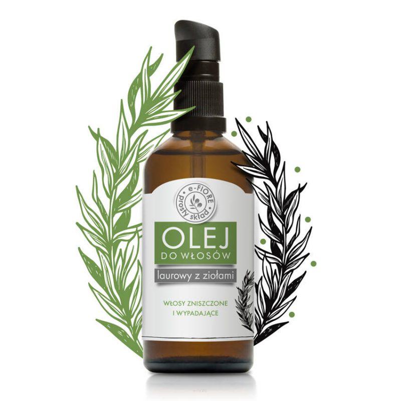 E-FIORE – Olejek laurowy z ziołami do włosów i skóry głowy – Intensywny porost, 100ml