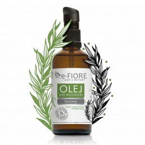 E-FIORE – Olejek laurowy do włosów i skóry głowy – Intensywny porost
