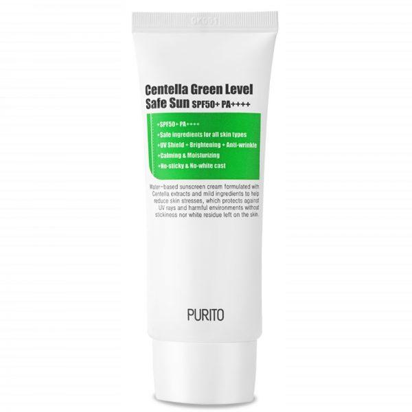 Purito – Centella Green Level Safe Sun 50+PA++++ Krem z filtrem przeciwsłonecznym, 60ml