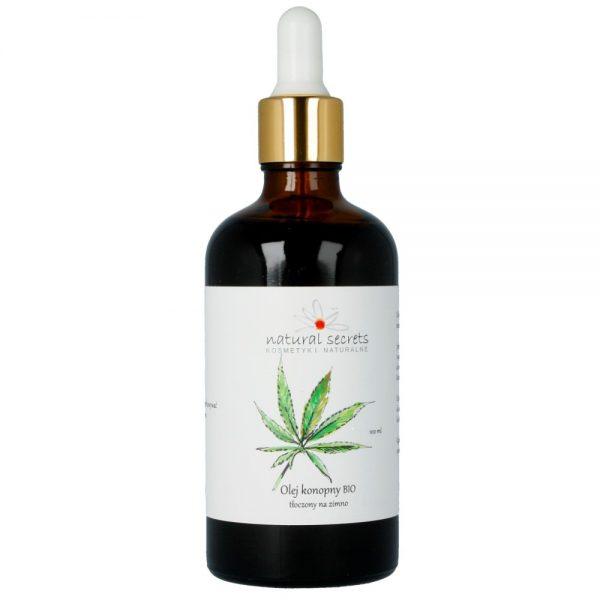 Natural Secrets – Naturalny olej konopny BIO – do twarzy i ciała 100ml