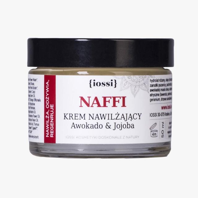 IOSSI NAFFI krem nawilżający na dzień Avocado & Jojoba – uszczerbiona pokrywka ważność 08/2020
