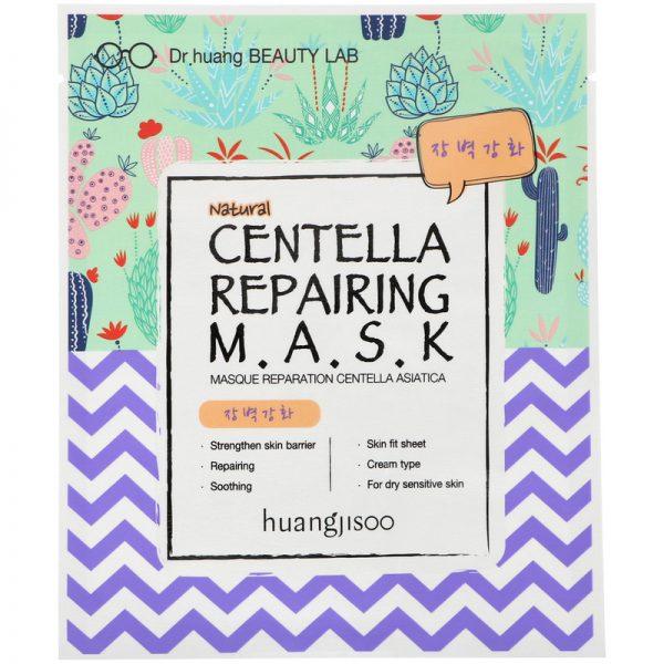 Huangjisoo – Mask Centella Repairing  Regenerująco-naprawcza maska do twarzy w płachcie