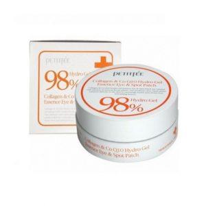 PETITFEE – 98% Hydro Gel Collagen Qenzyme Q10 Eye Patch Hydrożelowe płatki pod oczy