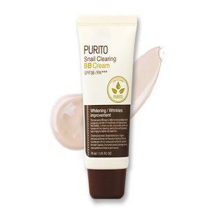 Purito – Snail Clearing BB Cream SPF38/PA+++ – 21 Light Beige – Wielofunkcyjny Krem BB Na Bazie Śluzu Ślimaka – 30ml