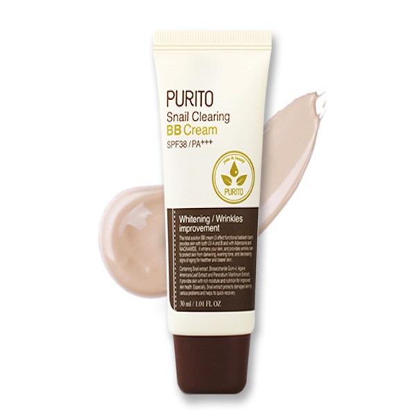Purito – Snail Clearing BB Cream SPF38/PA+++ – 23 Natural Beige – Wielofunkcyjny Krem BB Na Bazie Śluzu Ślimaka – 30ml