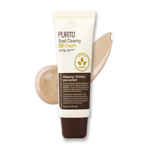 Purito – Snail Clearing BB Cream SPF38/PA+++ – 27 Sand Beige – Wielofunkcyjny Krem BB Na Bazie Śluzu Ślimaka – 30ml