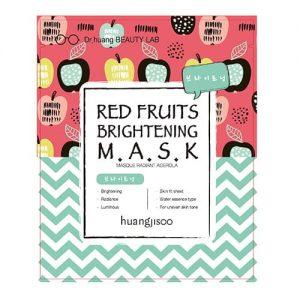 Huangjisoo – Mask Red Fruits Brightening  Rozjaśniająco-Rozświetlająca maska do twarzy w płachcie