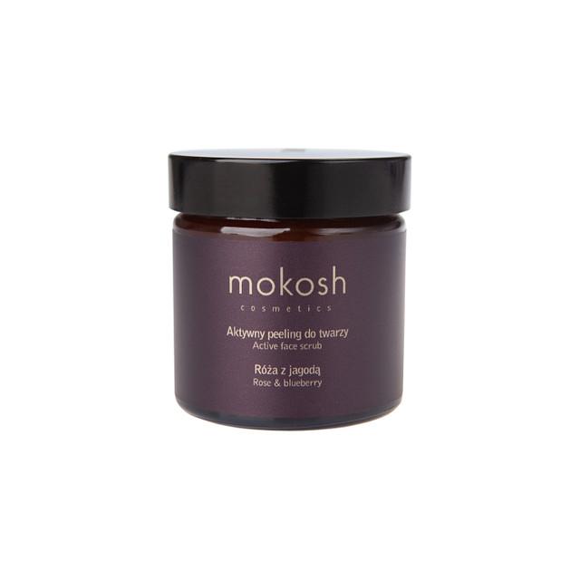Mokosh – Aktywny peeling do twarzy Róża z jagodą