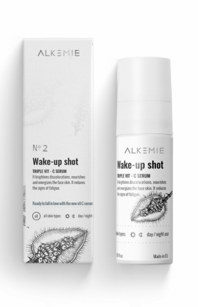 Alkemie, SNOW WHITE, Wake-up shot, Serum z potrójną witaminą C, 30 ml