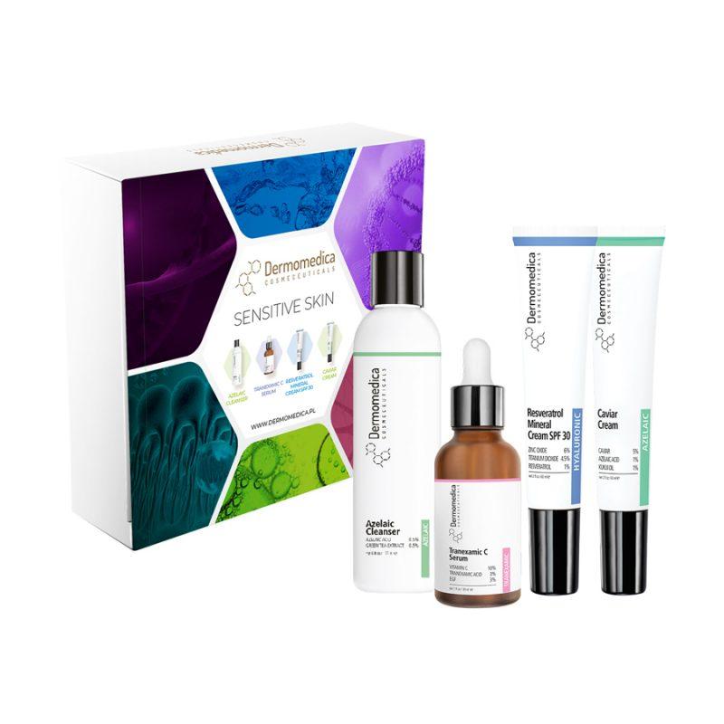 Dermomedica – Zestaw Sensitive Skin – Zestaw 4 mini produktów przeciwstarzeniowych dla cer wrażliwych