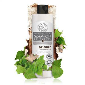 E-Fiore – Szampon dziegciowy z zieloną glinką  do włosów tłustych, z problemami