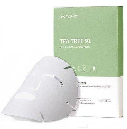Aromatica – Tea Tree 91 Anti-Blemish Calming Mask Organiczna maseczka z olejkiem z drzewa herbacianego