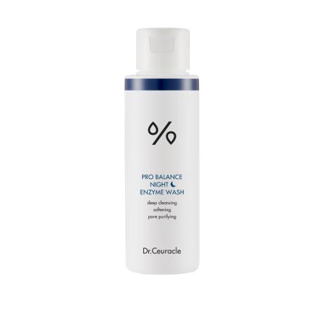 biała butelka z Peelingiem Dr.Ceuracle - Pro Balance Night Enzyme Wash