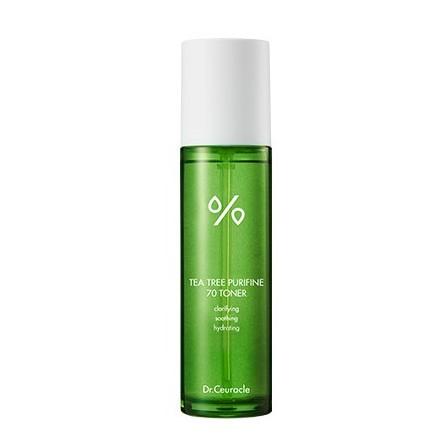 zielona butelka z tonerem oczyszczającym Dr.Ceuracle - Tea Tree Purifine 70 Toner