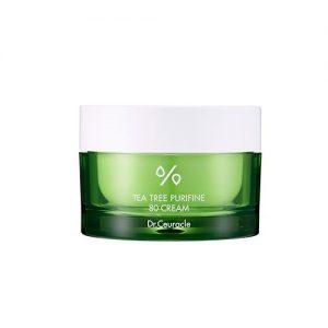 Dr.Ceuracle – Tea Tree Purifine 80 Cream – Lekki krem nawilżający z 80% ekstraktem z drzewa herbacianego