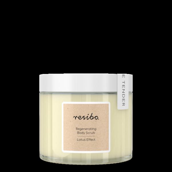 Resibo – Regenerating body scrub. Lotus effect – Regenerujący peeling do ciała. Efekt lotosu 300g