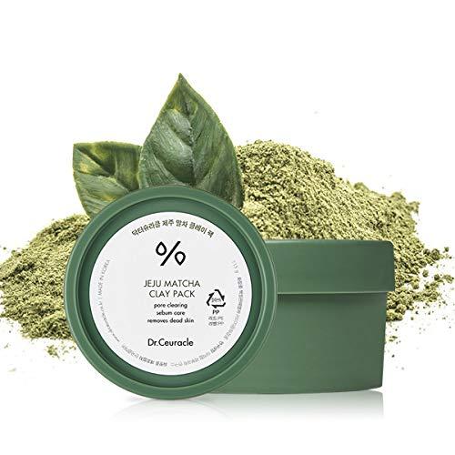 zielone opakowanie z Kremową maską na bazie glinki i herbaty matcha - Dr.Ceuracle - Jeju Matcha Clay Pack