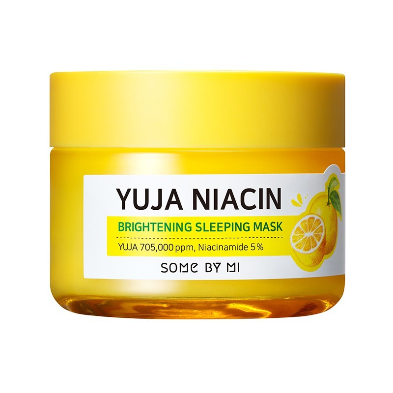 Some By Mi – Yuja Niacin Brightening Sleeping Mask – Rozjaśniająca Maska Do Twarzy na noc – 60g