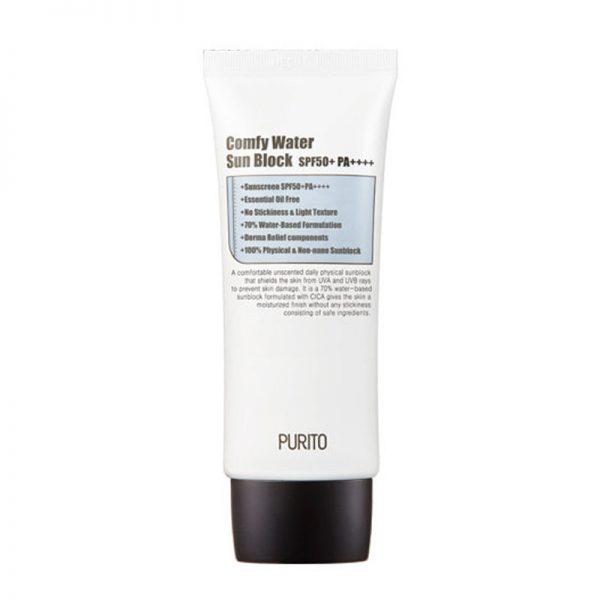 Purito – Comfy Water Sun Block SPF 50 + PA ++++ Nawilżający krem przeciwsłoneczny SPF 50 + PA ++++ 60 ml