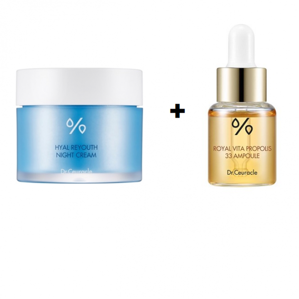 Dr.Ceuracle – Hyal Reyouth Cream & Royal Vita Propolis 33 Ampoule ZESTAW