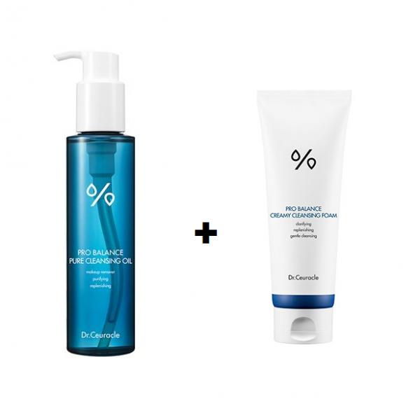 Dr.Ceuracle – Pro Balance ZESTAW Olejek emulgujący + łagodna pianka do mycia twarzy z probiotykami