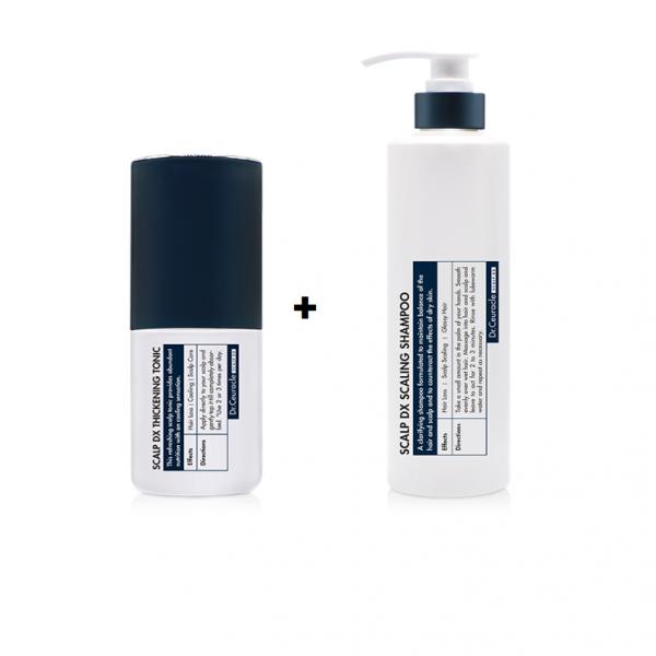 Dr.Ceuracle – Scalp DX – ZESTAW Wielofunkcyjny szampon przeciw wypadaniu włosów 500 ml + Wielofunkcyjny tonik do skóry głowy przeciw wypadaniu włosów 100 ml