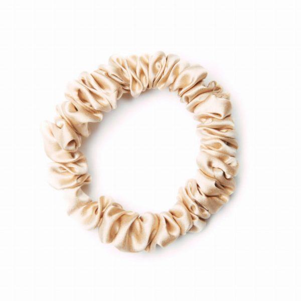 Easy Livin – Gumka do włosów 100% jedwab – złota
